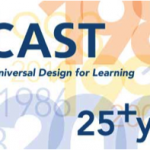 A picture depicting the title CAST, universal design for learning and 25+ years.